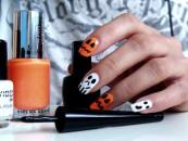 Halloween'owe paznokcie :)