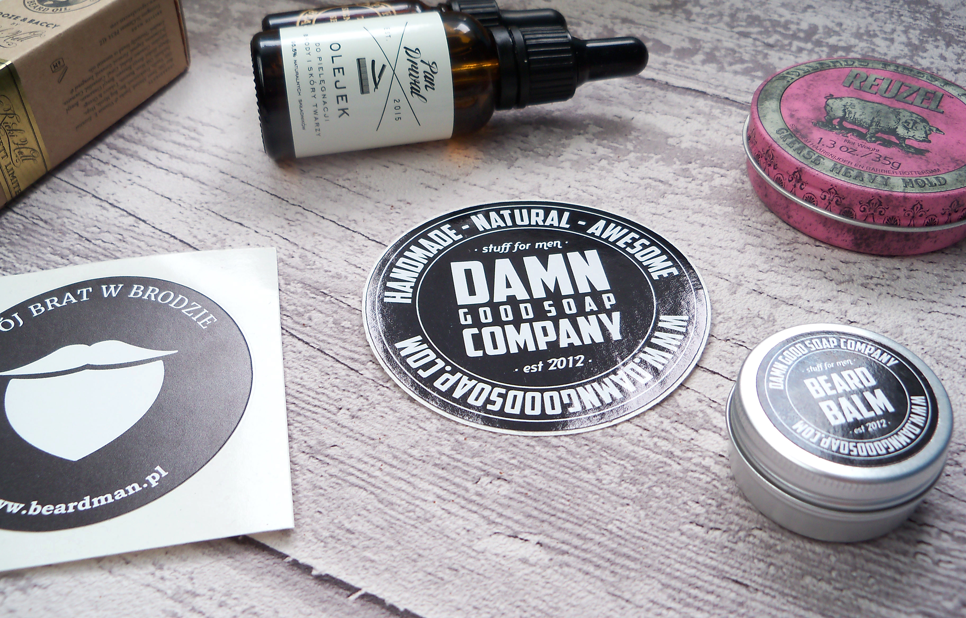 Kosmetyki do pielęgnacji brody.