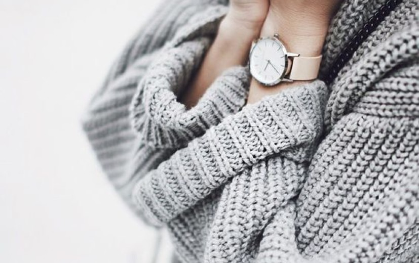 Szary sweter oversize, jesień 2016