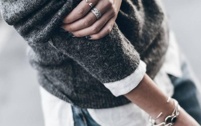 Sweter i koszula